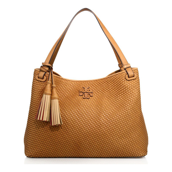 TORY BURCH thea woven satchel - Tmeless woven satchel with logo patch and lining. Dual top...