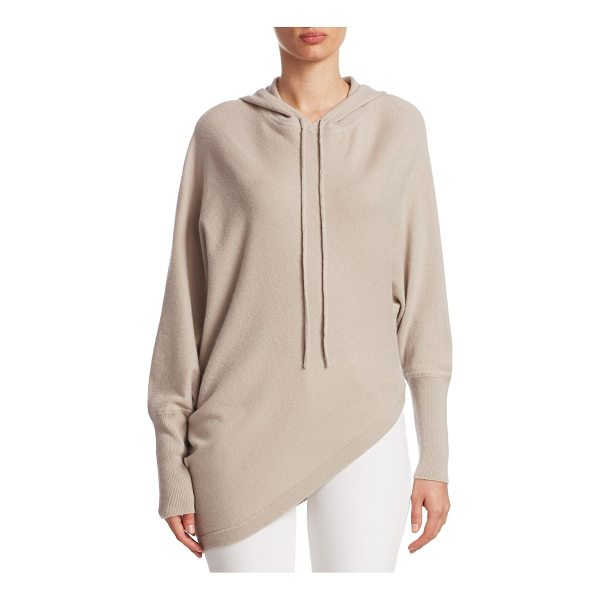 TSE X SFA asymmetric cashmere hoodie - EXCLUSIVELY AT SAKS FIFTH AVENUE. Cashmere hoodie in...
