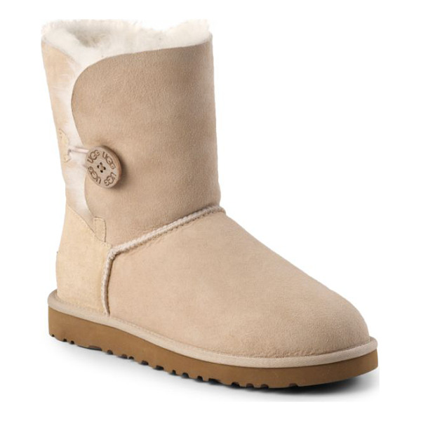 UGG Bailey button shearling short boots - A perfect cold-weather essential: leave the shearling cuff...