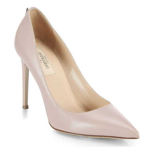 VALENTINO Single rockstud leather pumps - Fashioned from the finest Italian leather, ever-classic...
