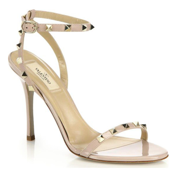 VALENTINO Rockstud leather sandals - Valentino's signature pyramid studs lend just a touch of...