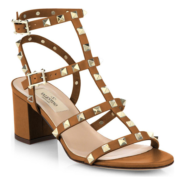 VALENTINO Rockstud leather sandals - Meticulously tailored leather T-strap silhouette with...