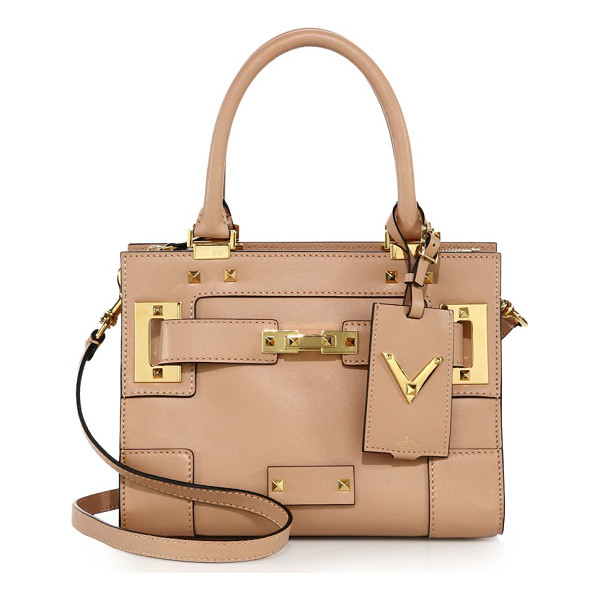 VALENTINO Rockstud leather satchel - Smooth leather satchel with belt detail and signature...