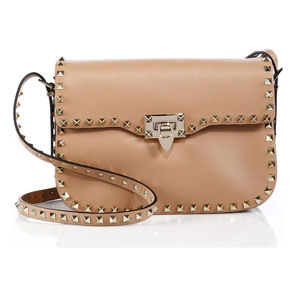VALENTINO Rockstud leather shoulder bag - Valentino's iconic pyramid studs trace the sleek silhouette...