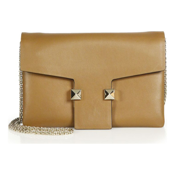 VALENTINO Rockstud two-tone leather crossbody bag - A sleek, understated design detailed with just two of...
