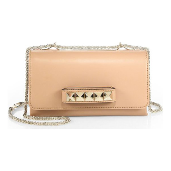 VALENTINO va-va-voom shoulder bag - A smooth, supple nappa leather bag that features arresting