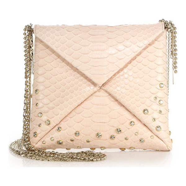 VBH Crystal-embellished python crossbody bag - EXCLUSIVELY AT SAKS FIFTH AVENUESleek python design with...