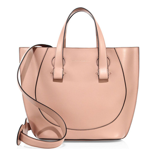 VICTORIA BECKHAM tulip small leather tote - Smooth leather tote with gently curved tulip shape. Double...