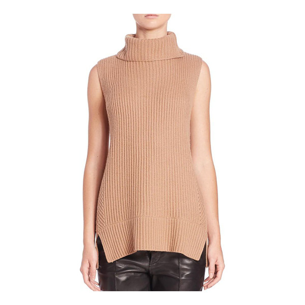 VINCE Directional ribbed turtleneck sweater - Multi-directional ribbing refines the slim fit of this...