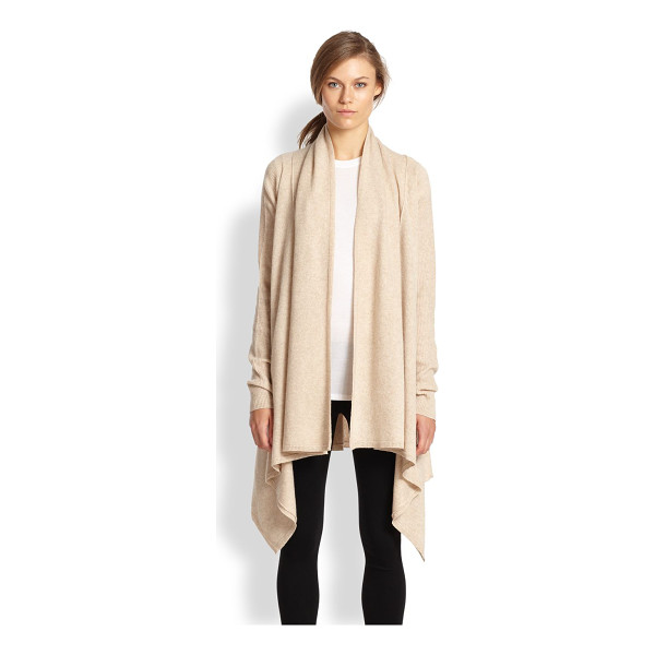 VINCE Draped wool/cashmere cardigan - This understated cardigan is cut from a soft blend of wool...
