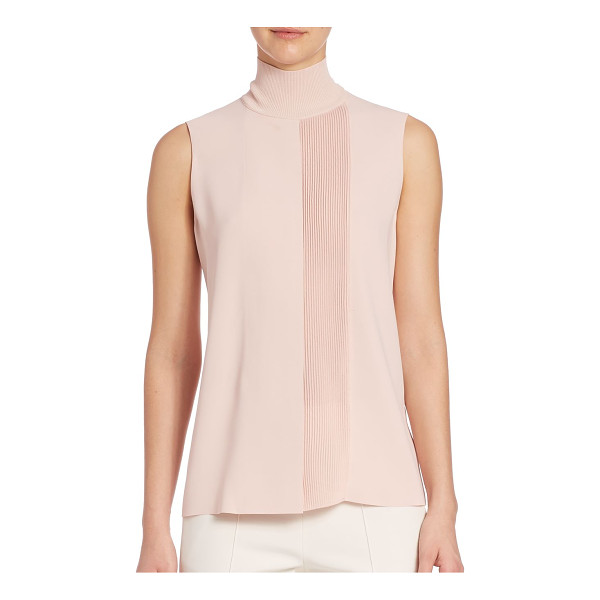 VINCE lasercut sleeveless turtleneck - A sophisticated style, this sleeveless turtleneck top is...