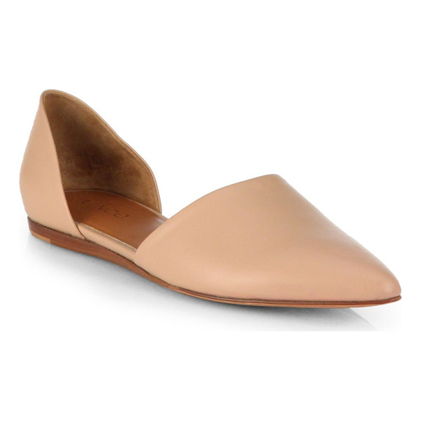 VINCE Leather d'orsay flats - Minimalist and chic low-cut design in supple leather with...