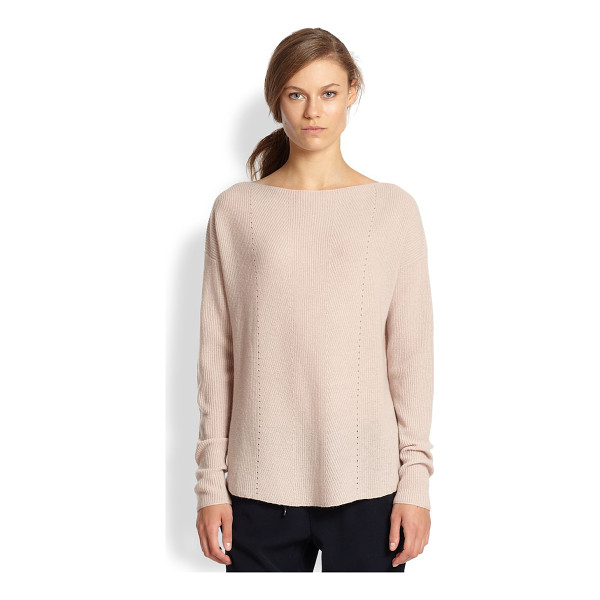 VINCE Ribbed cashmere relaxed boatneck sweater - The silhouette of this ribbed cashmere sweater is cut to...