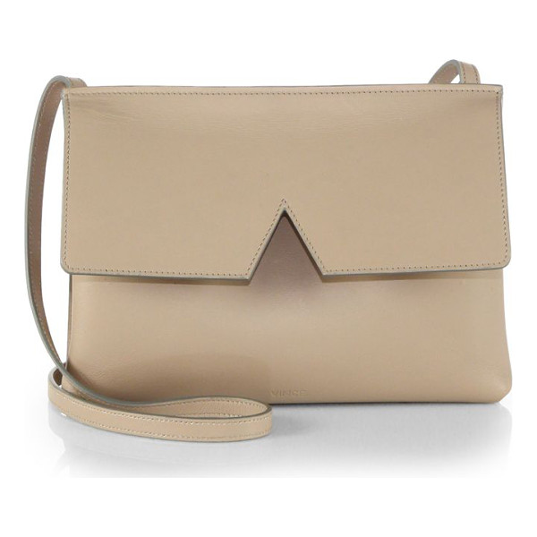 VINCE signature collection baby crossbody bag - EXCLUSIVELY AT SAKS IN BORDEAUX. Crafted from sleek leather...