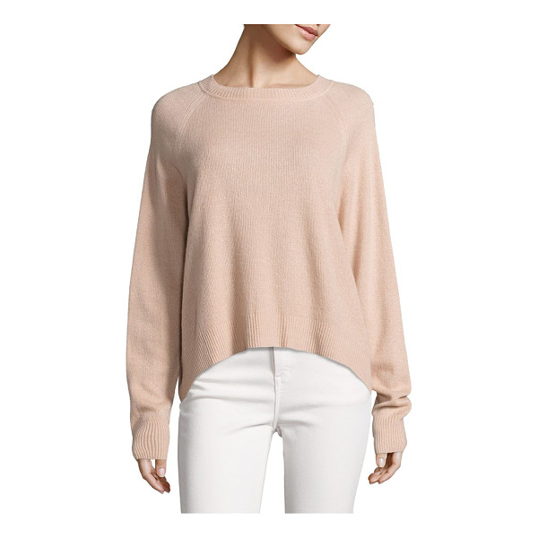 VINCE textured cashmere pullover - Statement-making silhouette in luxe cashmere blend....