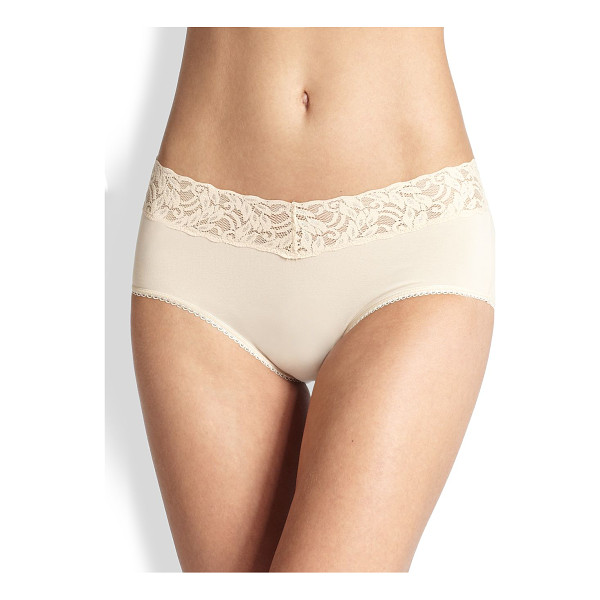 WACOAL cotton suede hipster brief - A modern, flirty silhouette designed with a comfortable...