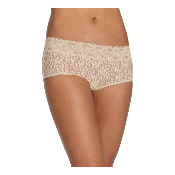 WACOAL halo lace boyshort - Crafted in delicate lace, these feminine boyshorts are a...