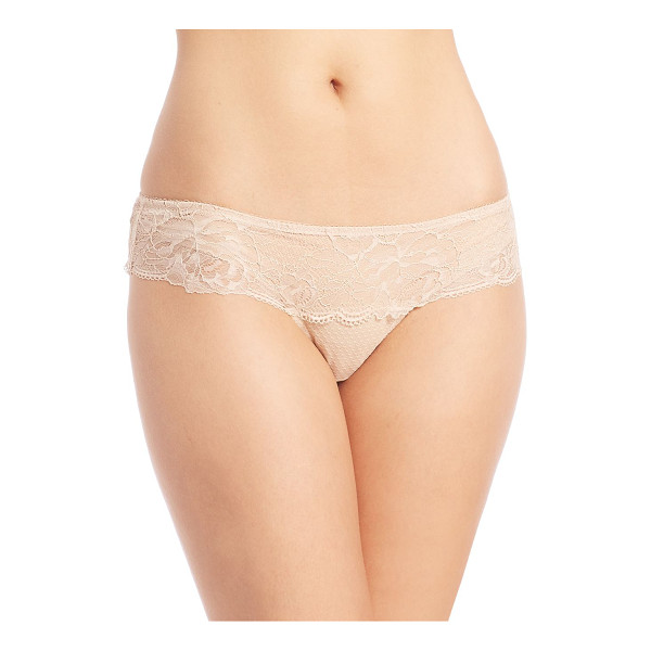 WACOAL so sophisticated hipster - Low-rise hipster style in feminine floral lace. Elasticized...