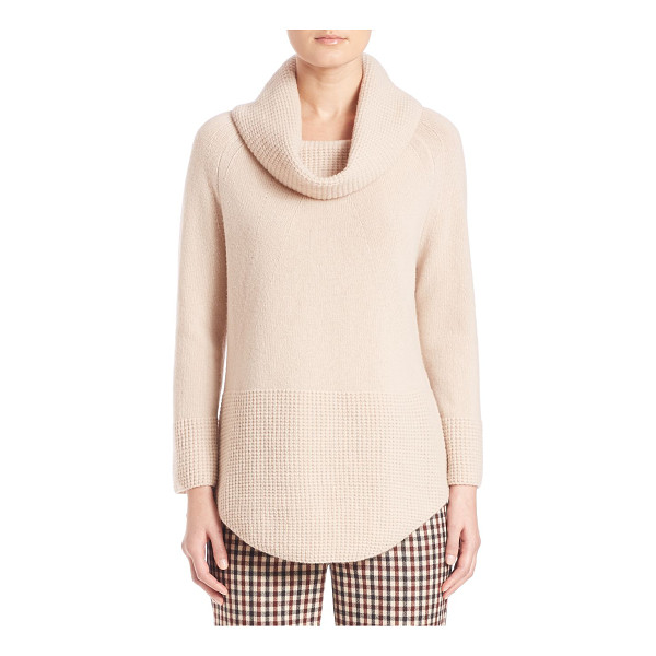WEEKEND MAX MARA namur virgin wool cowlneck sweater - Classic cowlneck sweater with waffle-knit trim. Cowlneck....