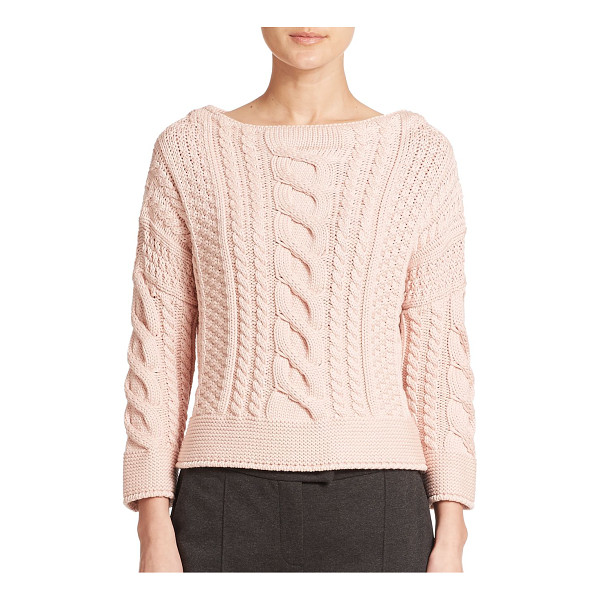 WEEKEND MAX MARA Rana cable-knit sweater - Chunky cable knitting adds rich depth to this...
