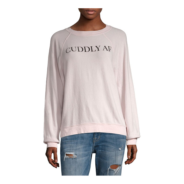 WILDFOX cuddly af sweatshirt - From Sun Kissed collection. Smooth silky sweatshirt with...