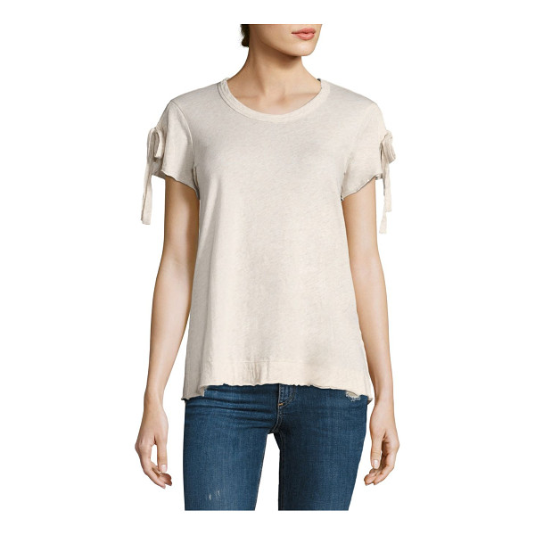 WILT tie up sleeve tee - Tie-up sleeves bring attention to this cotton tee....