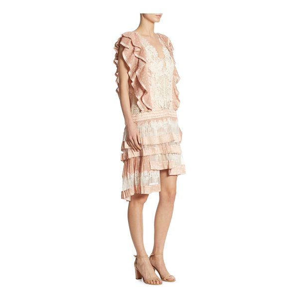 ZIMMERMANN folly dizzy printed dress - From the Maple Collection. Folly dizzy dress with mesh lace...
