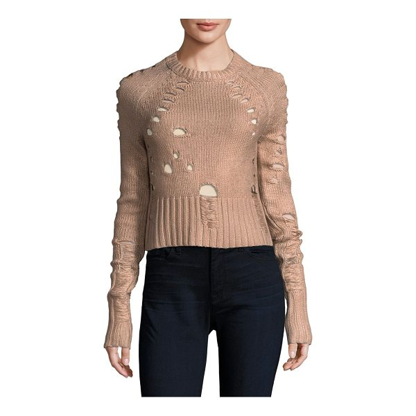 ZOE JORDAN euler distressed sweater - EXCLUSIVELY AT SAKS FIFTH AVENUE. Sweater with distressed...