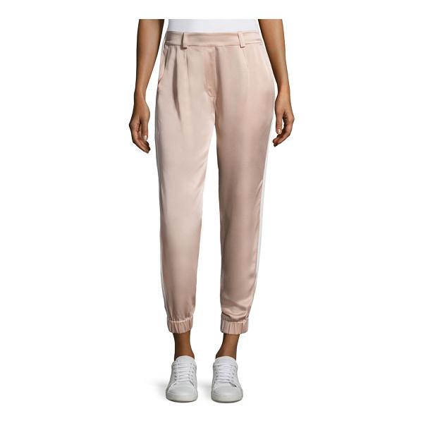 ZOE JORDAN zanzi cropped trousers - Smooth solid pants designed in a cropped silhouette. Banded...