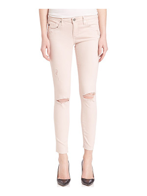 AG ADRIANO GOLDSCHMIED Ed Denim Distressed Legging Ankle Jeans