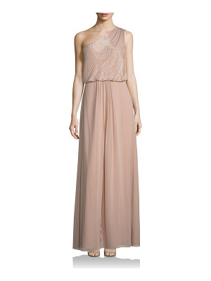 Aidan Mattox Bridesmaids embellished one shoulder bridesmaid gown