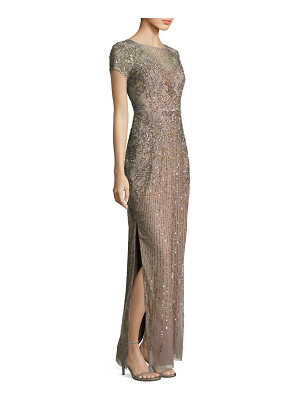 AIDAN MATTOX Beaded Sequin Gown