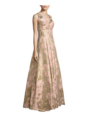 Aidan Mattox metallic jacquard ball gown