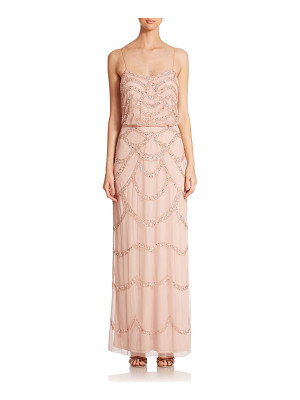 Aidan Mattox sequin blouson bridesmaid gown