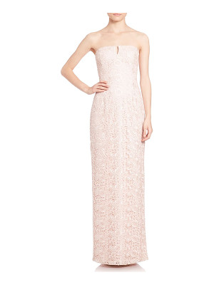 Aidan Mattox strapless lace bridesmaid gown