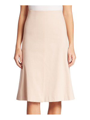 AKRIS cotton double face a-line skirt