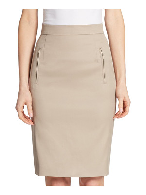 AKRIS PUNTO Zip-Pocket Pencil Skirt