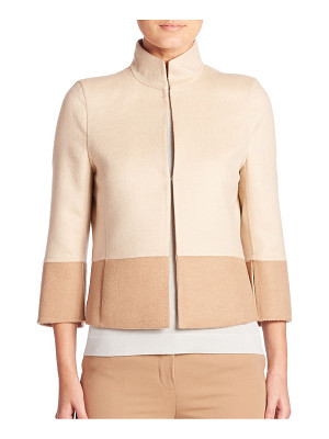 AKRIS reversible two-tone cropped jacket