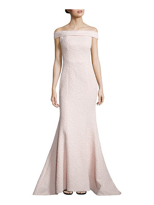 Alberto Makali textured off-the-shoulder gown