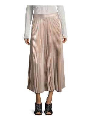A.L.C. Bobby Metallic Pleated Maxi Skirt