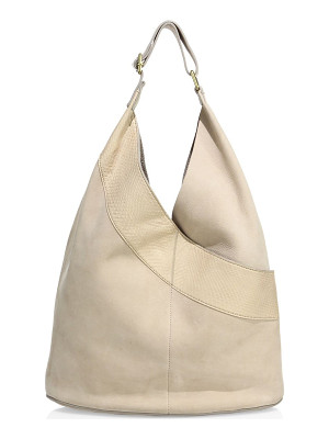 A.L.C. leather & watersnake hobo bag