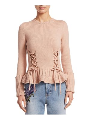 Alexander McQueen wool lace-up sweater