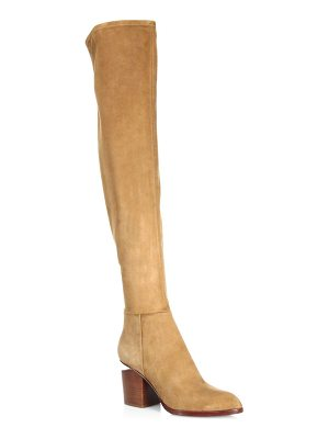 ALEXANDER WANG Gabi Thigh High Stretch Suede Boots