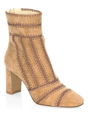 ALEXANDRE BIRMAN Beatrice Embroidered Leather Booties