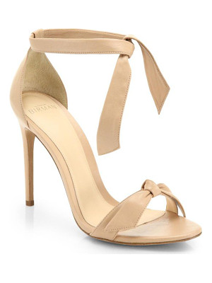 ALEXANDRE BIRMAN Clarita Leather Ankle-Tie Sandals
