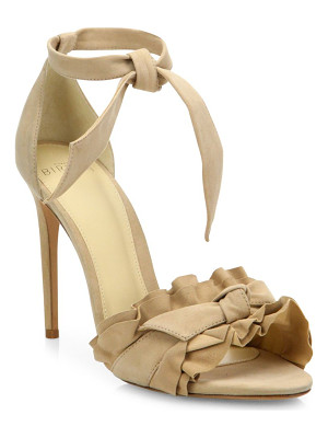ALEXANDRE BIRMAN Lupita Ruffled Suede Ankle-Strap Sandals