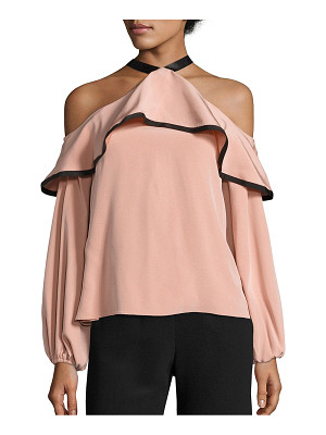 Alexis malia cold-shoulder choker top