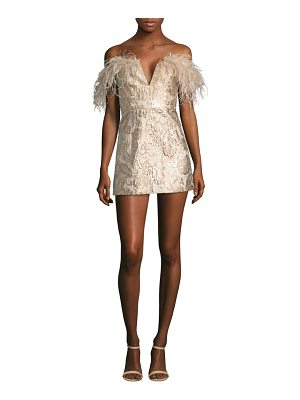 ALICE MCCALL Pop Goes The Party Feather Brocade Mini Dress