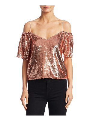 Alice + Olivia agatha cold-shoulder top