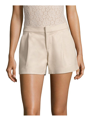 Alice + Olivia arosa pleated leather shorts